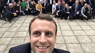 سلفی رییس جمهور منتخب فرانسه