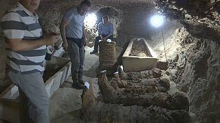 اكتشاف 17 مومياء في محافظة المنيا