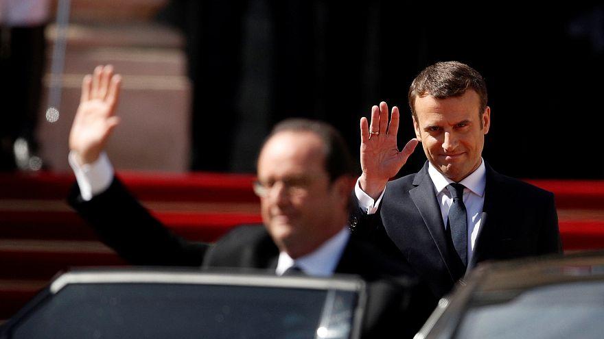 Paris slips on Sunday best for Macron inauguration