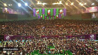 سخنان روحانی در ورزشگاه آزادی و دوقطبی شدن فضای انتخاباتی