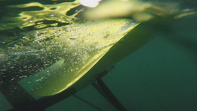 An underwater kite built to harness tidal energy
