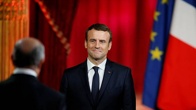Emmanuel Macron is sworn in as French president