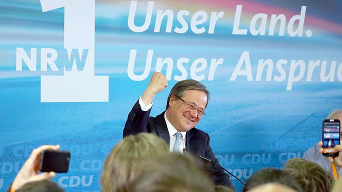 SPD looks set to lose North Rhine Westphalia as CDU support surges say exit polls