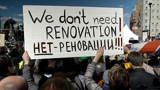 Rússia: Protestos contra a demolição de edifícios soviéticos