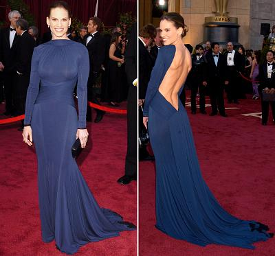 Hilary Swank had a surprise in store with her 1995 Oscars dress.