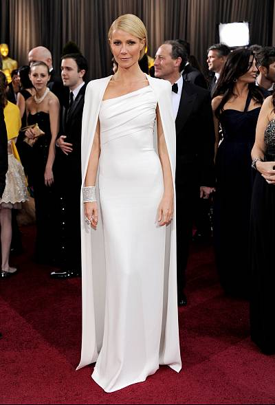 While often associated with that pink gown from her Oscar-winning night, this 2012 Gwyneth gown takes the prize.