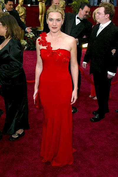 Kate Winslet is the quintessential lady in red at the Oscars in 2002.