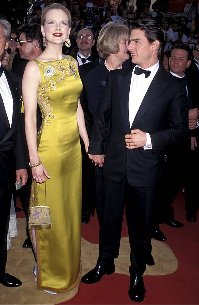 Nicole Kidman and then-husband Tom Cruise at the Oscars in 1997.