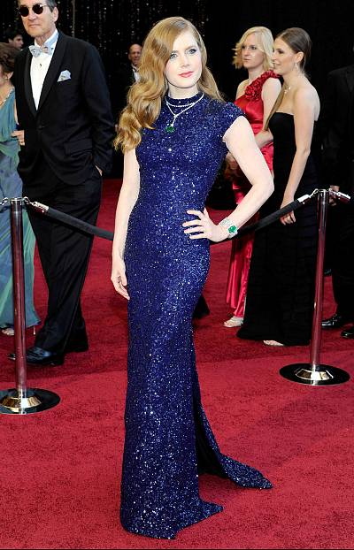 Amy Adams sparkles on the red carpet in 2011.
