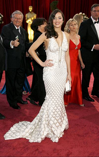 Marion Cotillard made a splash in this mermaid gown!