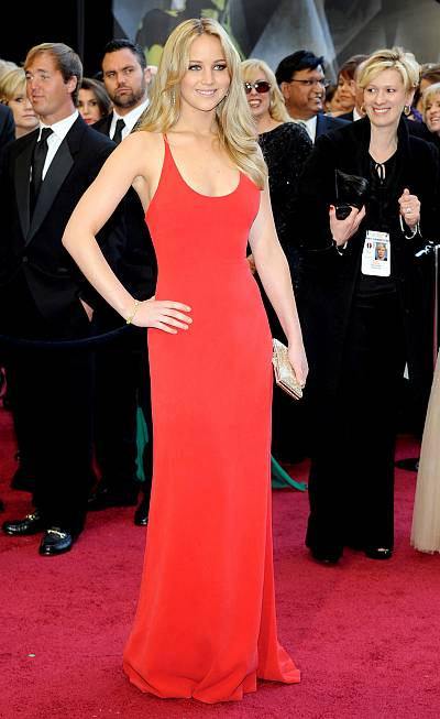 The first (and arguably best) of J.Law\'s incredible Oscar gowns.