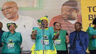 Afrique du Sud-élection à la tête de l'ANC: Jacob Zuma apporte son soutien à son ex-épouse