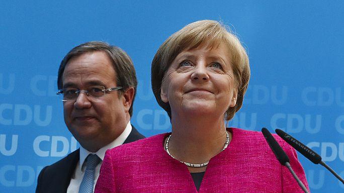 Merkel, Almanya'daki eyalet seçimlerinden zaferle çıktı