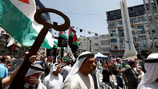 تظاهرات فلسطینیان به مناسبت روز نکبت