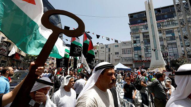 Palestinianos assinalam aniversário da Nakba