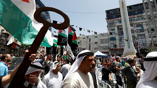 """I palestinesi commemorano la Nakba, la """"catastrofe"""", la nascita dello Stato israeliano"""