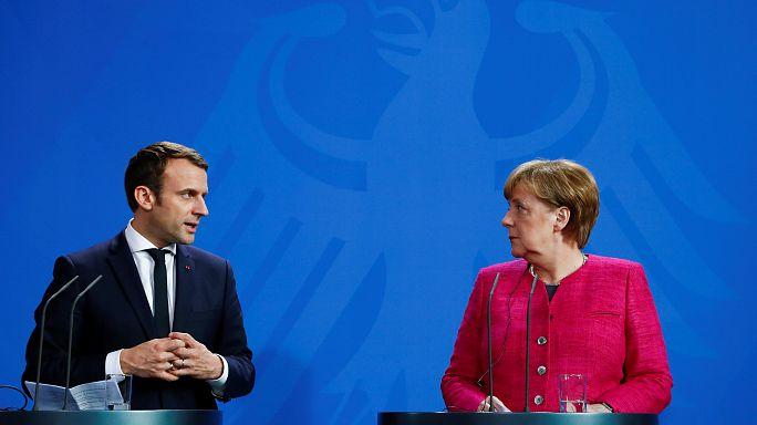 Fransa'nın yeni Cumhurbaşkanı Macron'un ilk durağı Berlin