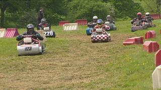 Lawn mower race in the UK