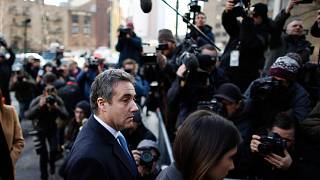 Michael Cohen arrives at federal court for his sentencing hearing, on Dec.