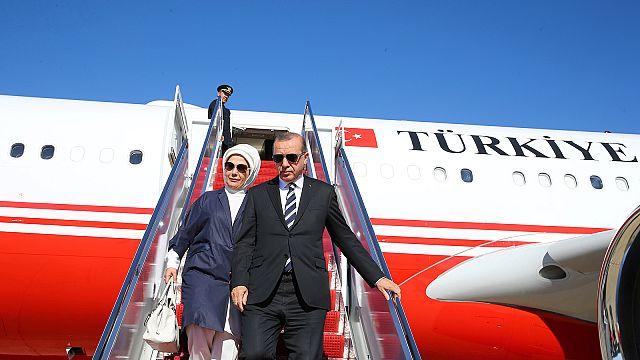 Turkey's Erdogan in US to meet Trump at White House