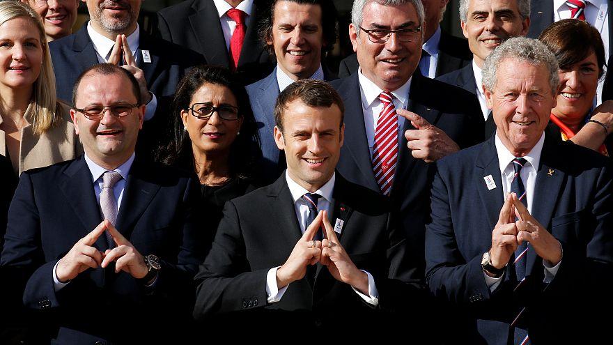 Emmanuel Macron defiende la candidatura de París 2024