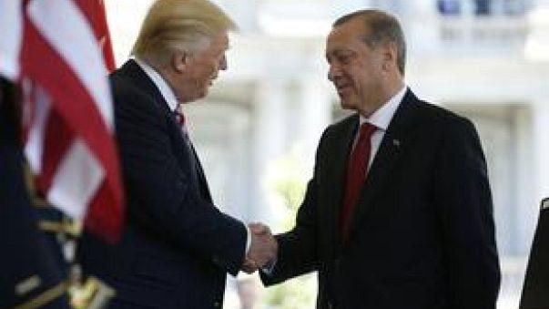 Erdogan e Trump na Casa Branca