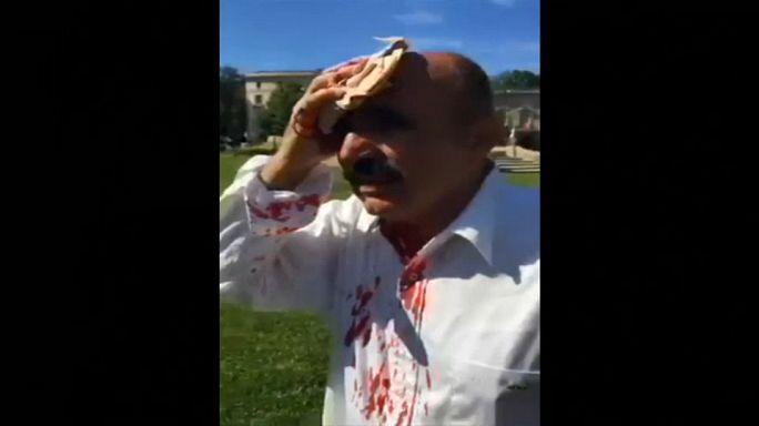 اشتباكات أمام السفارة التركية في واشنطن بالتزامن مع زيارة أردوغان