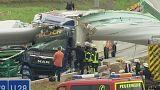 Частина турбінного млина перегородила автобан у Німеччині