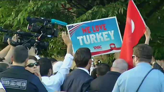Protestas contra Erdogan en Washington