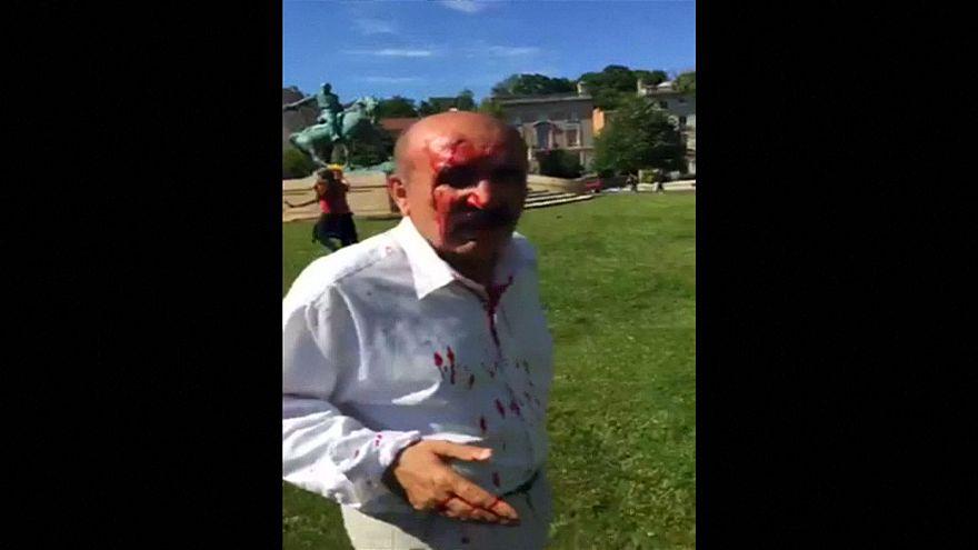WATCH: Clashes outside Turkey's Washington embassy injure several