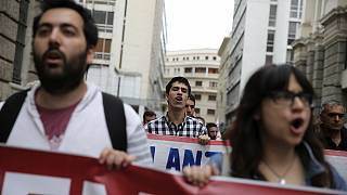 Huelga general en Grecia
