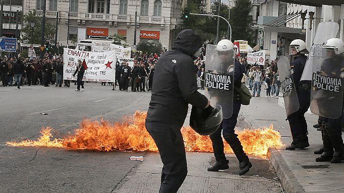 Sztrájk és tüntetés Görögországban