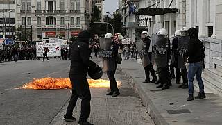 Clashes mar second day of Greece general strike