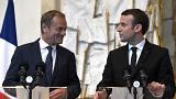 Macron meets European Council President Tusk for first time since inauguration