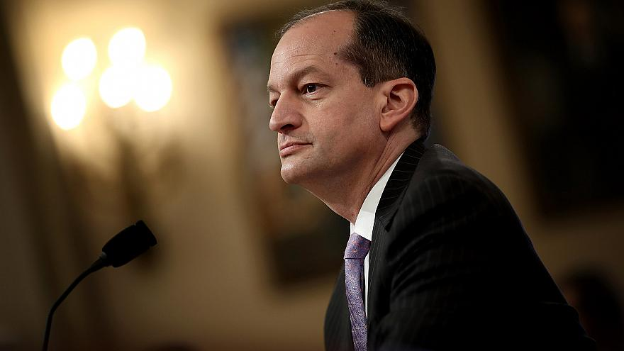 Image: Labor Secretary Alex Acosta testifies before the House Ways and Mean