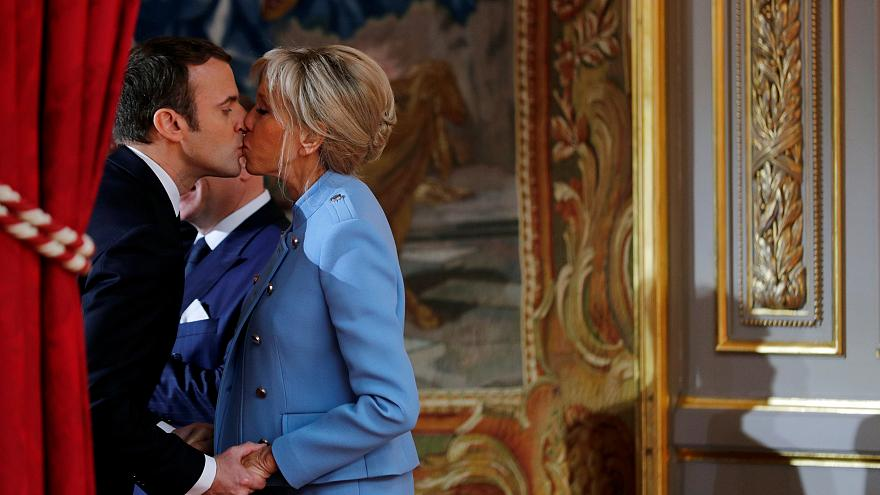 A week in Pictures ... Macrons seal victory with a kiss
