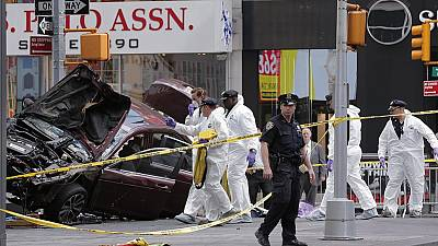 Man charged with murder after auto mows down pedestrians in Time Square