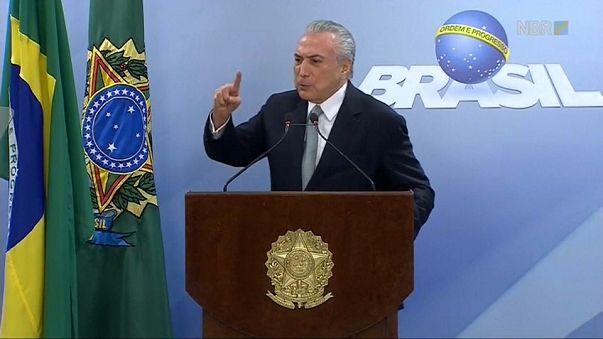 Michel Temer rechaza dimitir tras la decisión del Supremo de investigarle