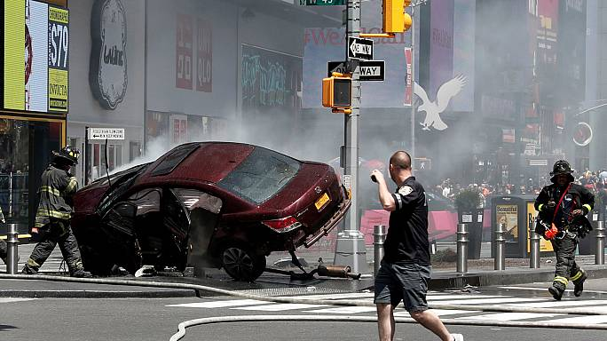 Times Meydanı'nda yayalara çarpan sürücü cinayetle suçlanıyor