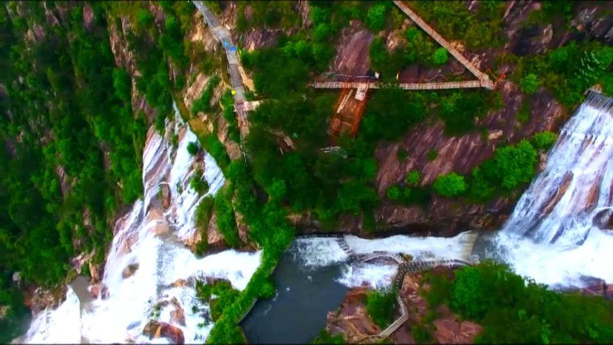 المياه تعود إلى الشلال بعد 60 عاما