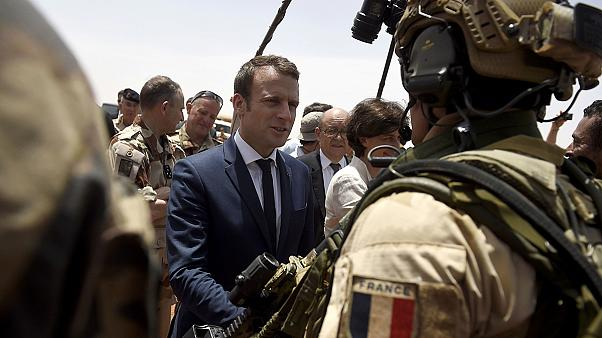 Macron visits troops in Mali, keeping campaign pledge