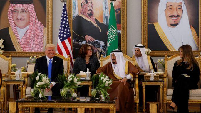 ترامب يصل إلى الرياض