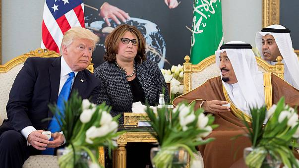 Trumps arrive in Saudi Arabia for president's first foreign tour