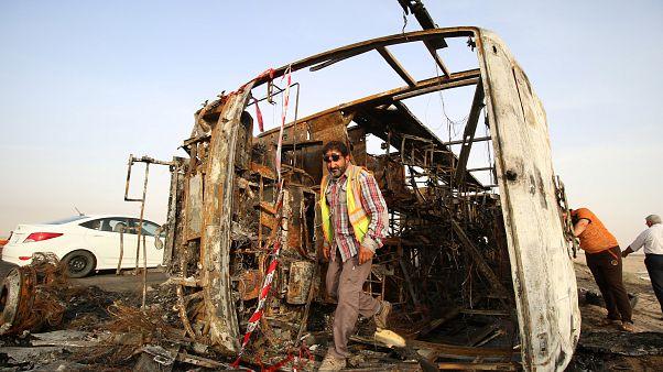مقتل اكثر من 35 شخصا في تفجيرات انتحارية تبناها تنظيم داعش