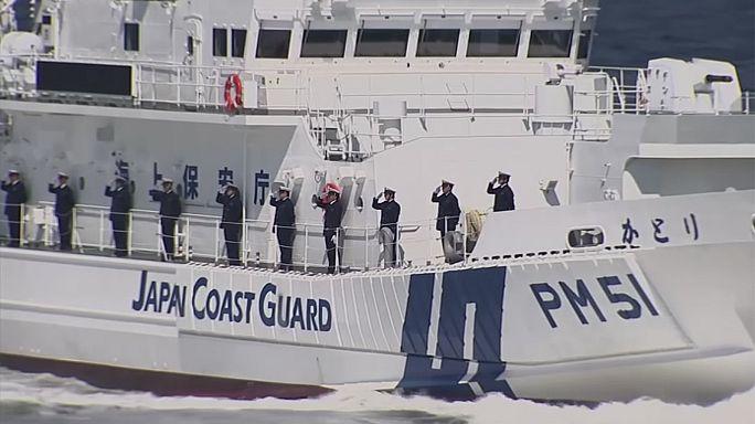 Japan coastguard resumes drills as tensions rise