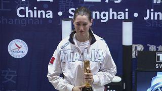 Espectacular remontada de Martina Batini en el Gran Premio de Shanghái de esgrima
