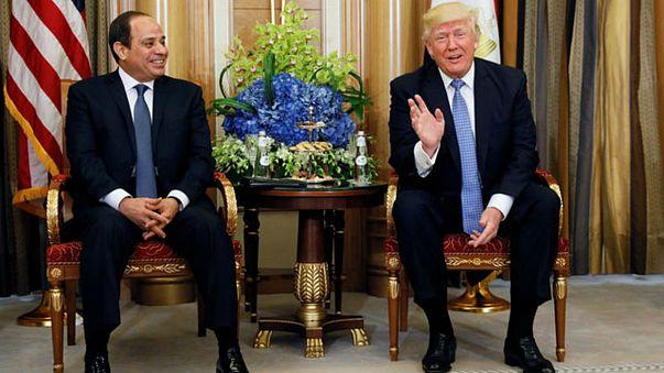 ترامب يثني على عمل السيسي و يعد بزيارة القاهرة