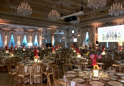"The grand ballroom before the ""Country Comes to Mar-a-Lago"" event."