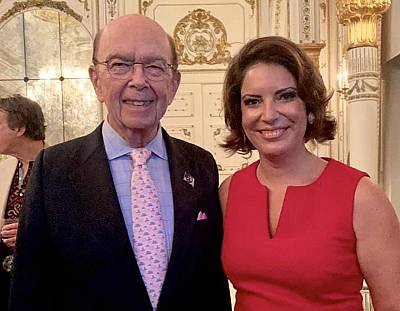 "Secretary of Commerce Wilbur Ross and Nicole DiCocco at the ""Country Comes to Mar-a-Lago"" gala."