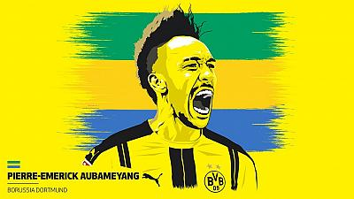 Aubameyang is top goalscorer in Germany, 2nd African to win it